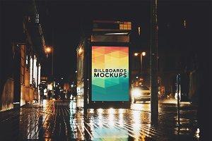 Billboard Mockup at Night #23