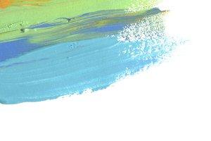 Abstract acrylic brush stroke