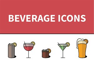 5 Alcoholic Beverage Icons
