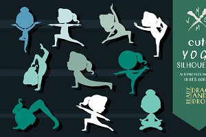 YOGA SILHOUETTES - IN BLUE