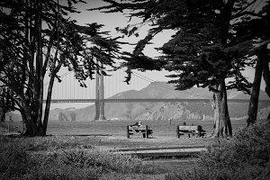 Relaxing at Golden Gate