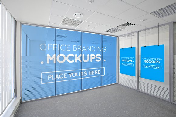 Offices Posters Billboards Mockups