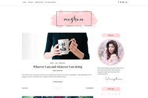 Feminine Blogger Template - Meghan