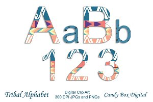 Tribal Alphabet Clip Art