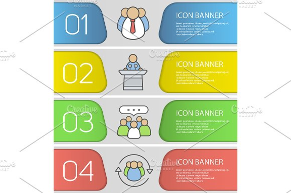 Business Banner Templates Vector