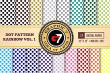 Dot Pattern Rainbow v1 Digital Paper