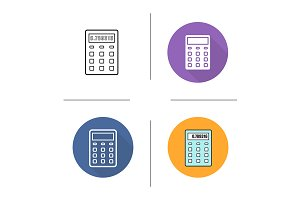 Calculator. 4 icons. Vector