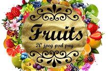 Fruits digital collection. Set 9