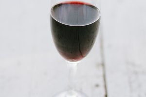 Glass of a red vine