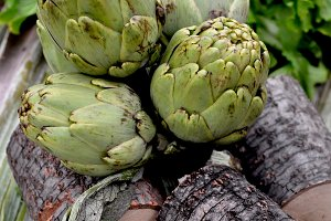 Artichokes and wood