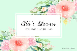Ella's Blooms - Watercolor Flowers