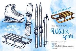 Winter Sport Sketch Set