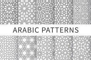 Islamic interlaced seamless pattern
