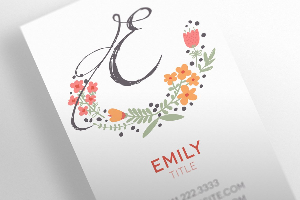 The Floral - Business Card Template ~ Business Card Templates ...