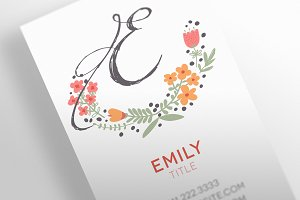 The Floral - Business Card Template