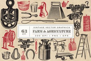 Farm & Agriculture Vector Graphics