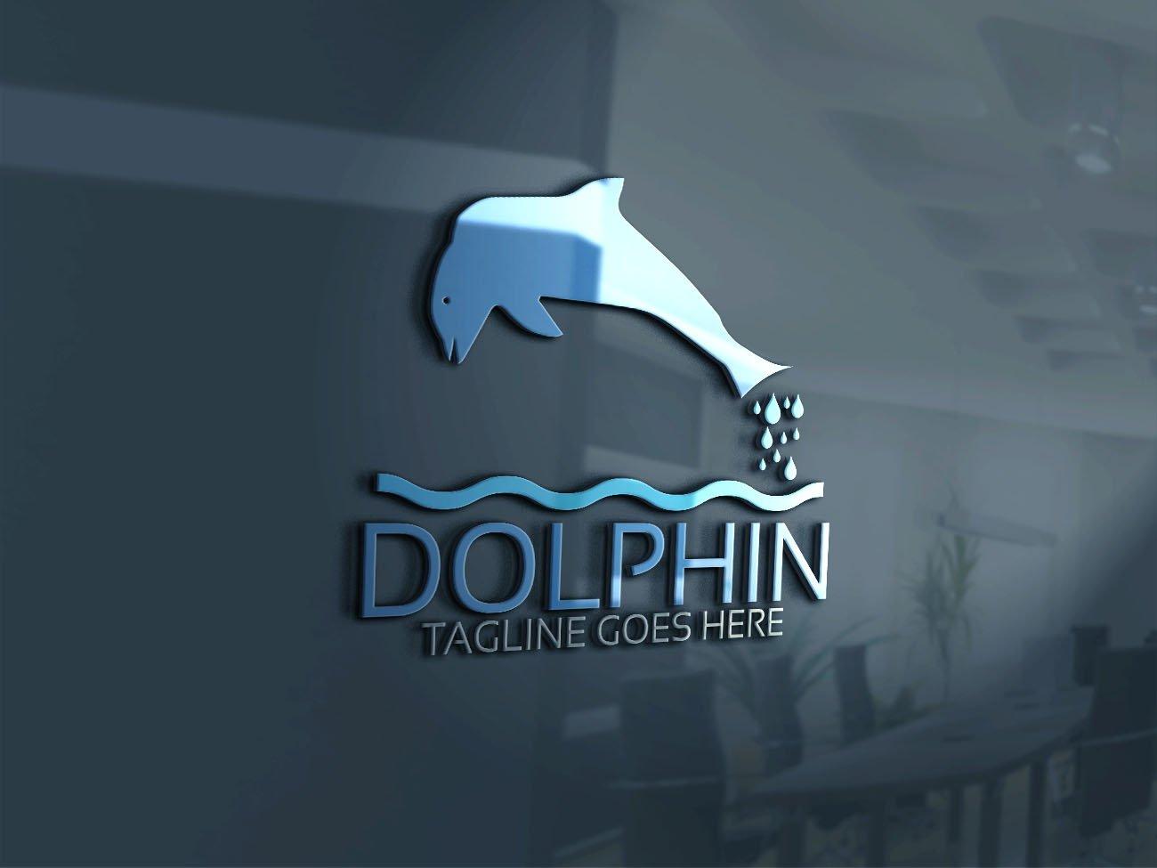 Dolphins Logo ~ Logo Templates ~ Creative Market