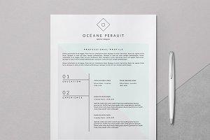Minimal Resume Template 4p / Océane