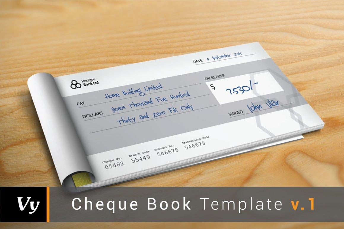 cheque check book template v 01 stationery templates creative market