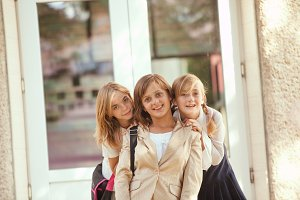 Three schoolgirls