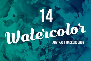 14 Abstract Watercolor Backgrounds