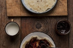 crepes with homemade jam