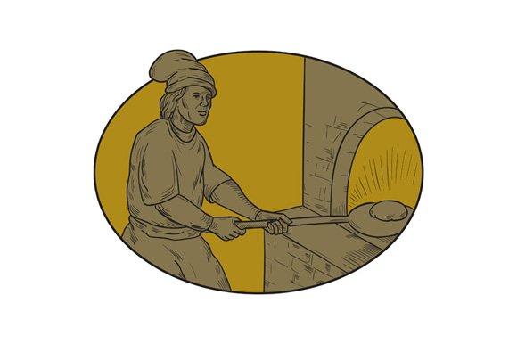 Medieval Baker Bread Peel Wood