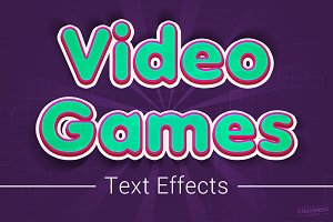 Video Games Text Effects Mockup