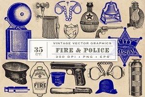 Fire & Police Vector Graphics