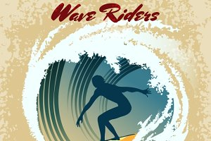 Wave Riders surfing label