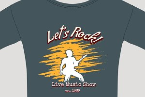 rock show tee shirt