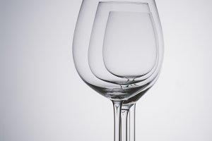 Three wine glasses studio still life
