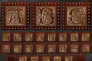 Gilded Alphabet Clipart