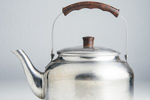 Old silver kettle