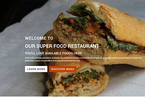 Responsive Food Restaurant Template