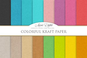 Colorful Kraft Paper Textures