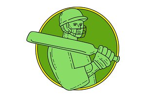 Cricket Player Batsman Circle