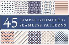 45 geometric seamless patterns