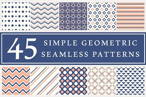 45 geometric seamless patterns