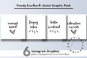 Trendy Handmade Social Graphic Pack