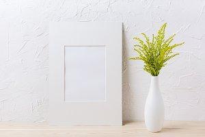 White mat frame mockup