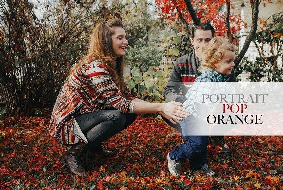 Portrait Pop Orange