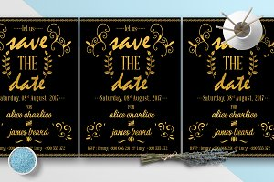 Gold Chalkline Save The Date