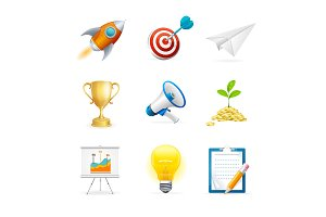 Start Up Icon Set.