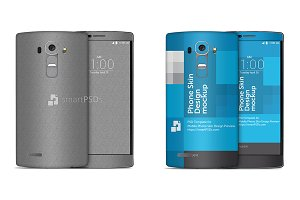 LG G4 Mobile Skin Case Mockup