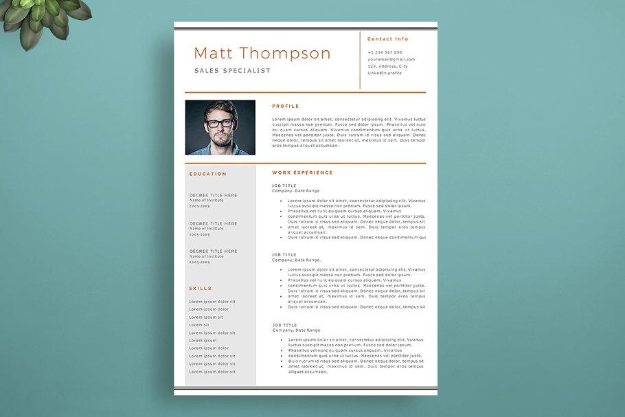 Impressive Resume Template Resume Templates Creative Market
