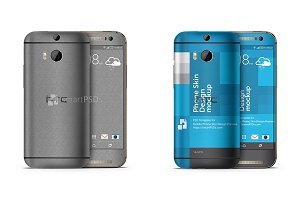 HTC One M8 Mobile Skin Case Mockup