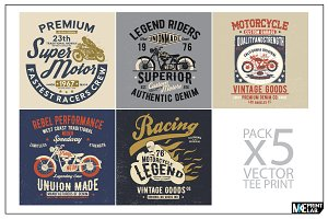 VINTAGE MOTORCYCLE TEE PRINTS