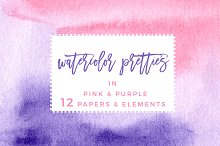 Pink & Purple Watercolor Backgrounds