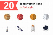 20 space vector icons